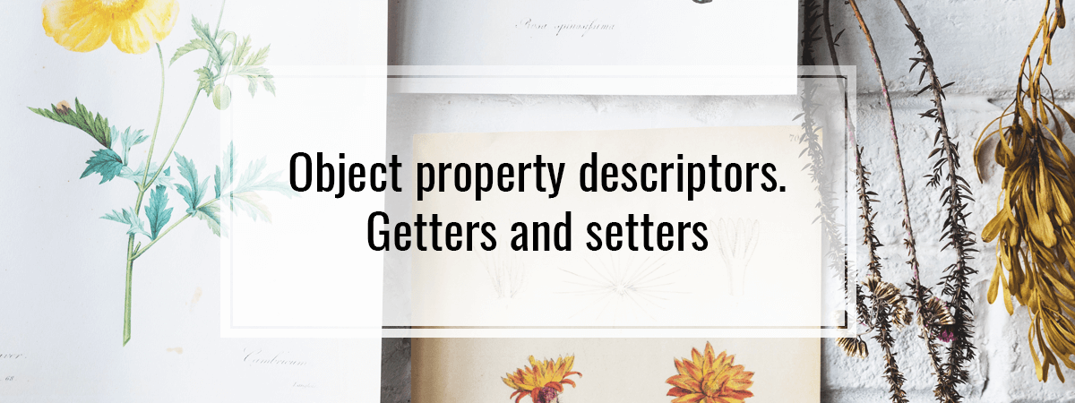 Object property descriptors. Getters and setters