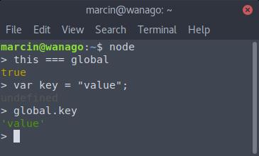 Node.js TypeScript terminal
