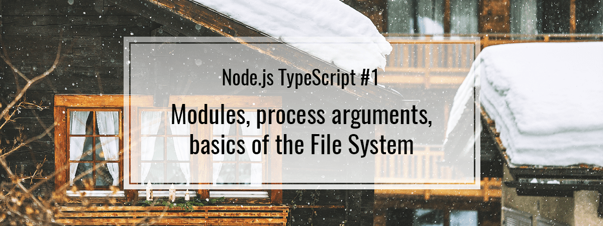 Node js TypeScript #1  Modules, process arguments and File System