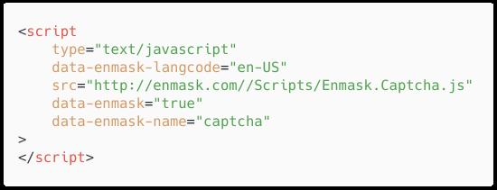 Enmask script tag