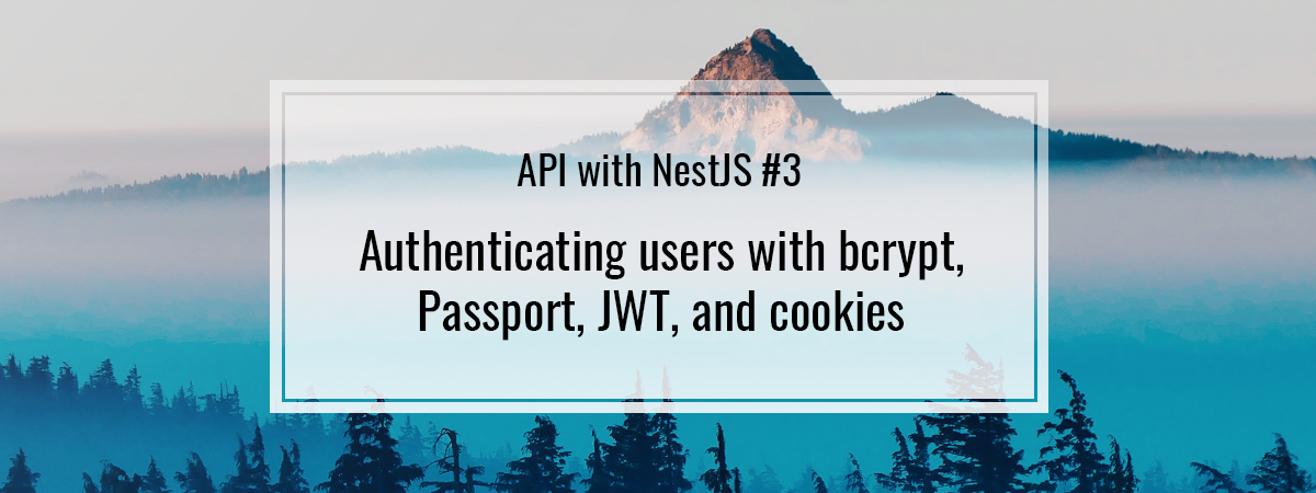 API with NestJS #3. Authenticating users with bcrypt, Passport, JWT, and cookies