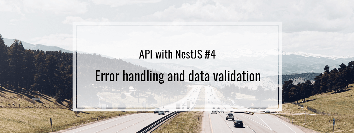 API with NestJS #4. Error handling and data validation