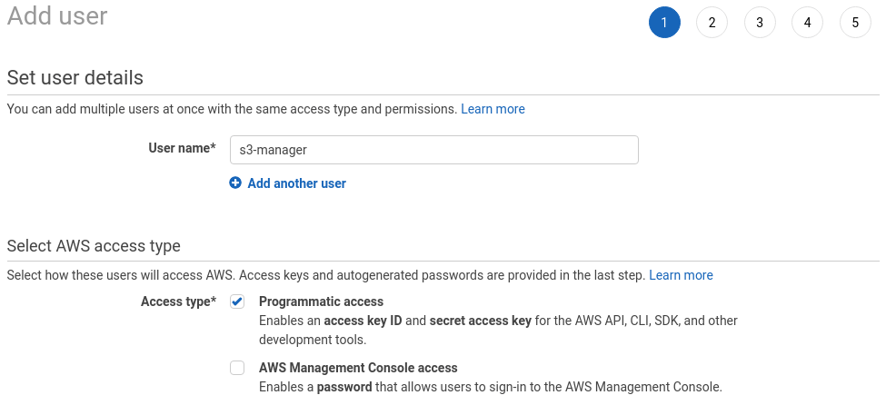 Amazon S3 interface