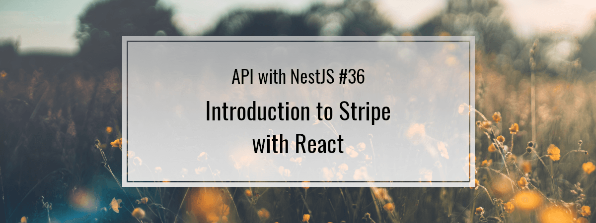 API with NestJS #36. Introduction to Stripe with React