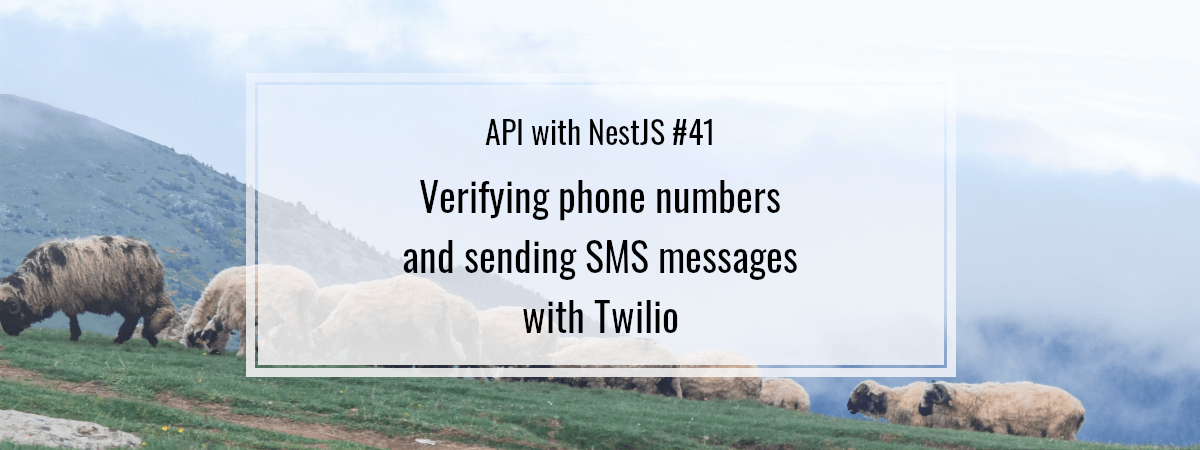 API with NestJS #41. Verifying phone numbers and sending SMS messages with Twilio